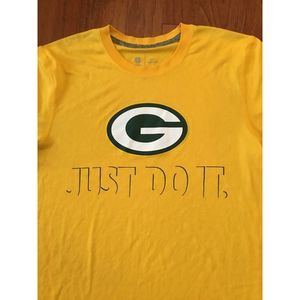 """Nike Green Bay Packers """"Just Do It"""" Dri Fit Tee M"""